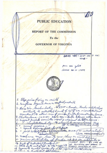 Public Education Report of the Commission to the Governor of Virginia