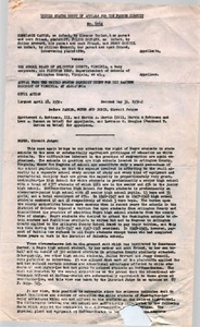 Constance Carter v. The School Board of Arlington County, Virginia: Complaint and opinion, 1950