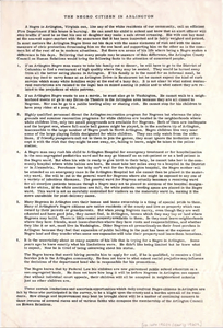 Broadside: The Negro Citizen in Arlington published by American Council on Human Relations