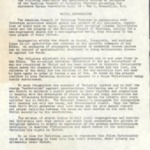 Typewritten copy, Resolution, American Council of Churches, 4/29 -5/2[??], and Defenders of State Sovereignty reproduction of Paul Harvey comments, n.d. 2 pages