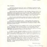 Letter from Dean Brundage, Vienna, Virginia
