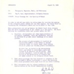 Memo, Ray Reid Arlington Schools Superintendent to Newspapers, Magazines and Television about Press Coverage of Opening of School, 8/29/1958