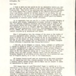 Letter, Jack Rathbone to Daniel Dugan, 2 pages.