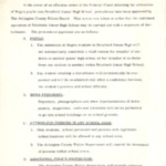 Memo, Procedures for Admittance for Negro pupils to Stratford Junior High, 1/22/1959