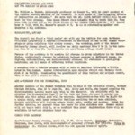 News, Community Council for Social Progress, April 1961, 2 pages, verso has typewritten note
