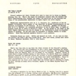 Newsletter, Community Council for Social Progress, 10/1960, 2 pages.