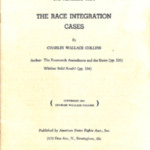 "Booklet ""November 1954: The Race Integration Cases,"" 1954"