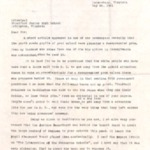Anonymous Letter from Petersburg, Virginia May 24, 1961