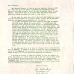 Letter from Leo Urbanske