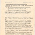 League of Women Voters December 1955 Study Regarding the Gray Commission Report