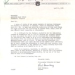 Letter from Paul Harenberg April 9, 1959